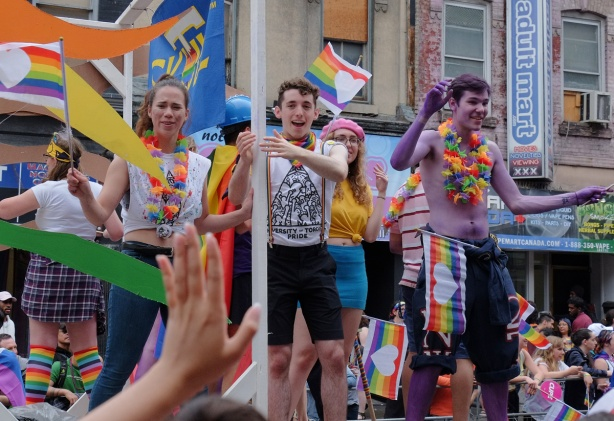 university of toronto float in pride parade