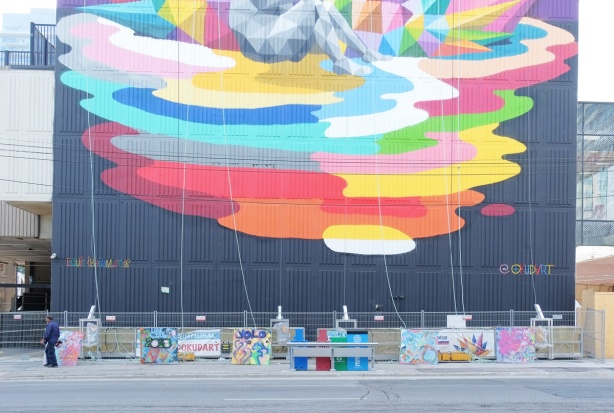 street level part of mural, equilibrium by okudart