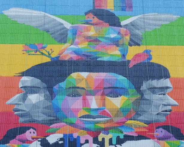 very top part of mural, equilibrium by okudart