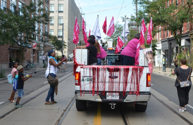labour Day parade on Queen St West,
