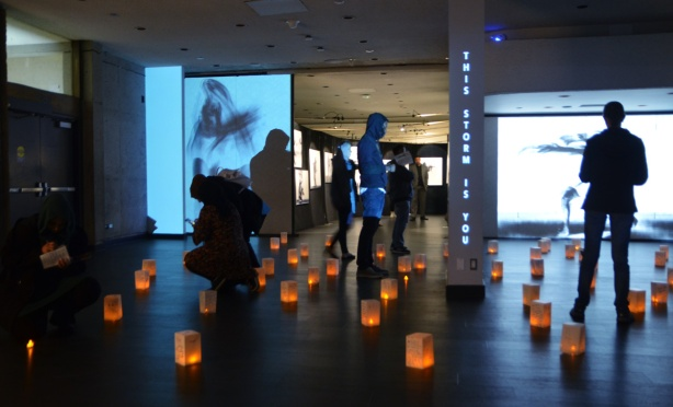 art installation for Nuit Blanche at the Ontario Science Centre, by Zahra Saleki called 'This Storm is You'.