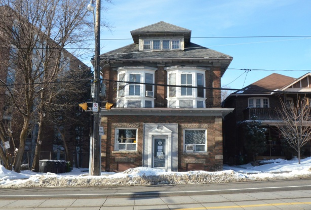 large old brick house on Kingston Road, three stories,