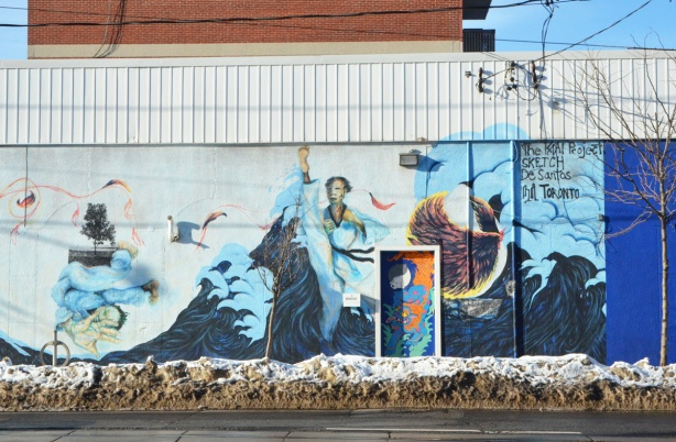 karate, martial arts mural on a wall