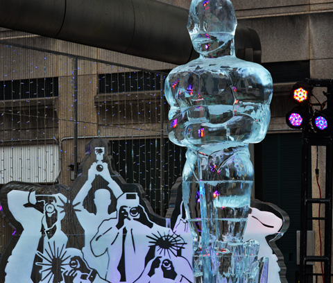 ice sculpture of an oscar