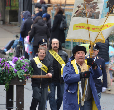 men in parade