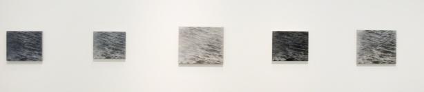 five similar drawings of water