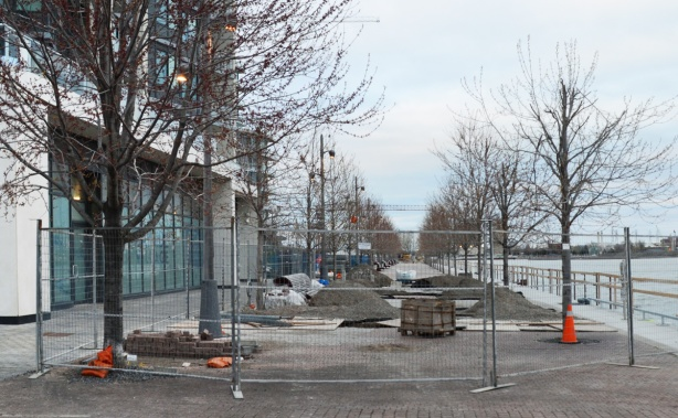 construction of a waterfront path