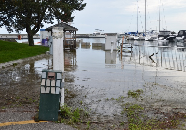 flooding at Ontario Place