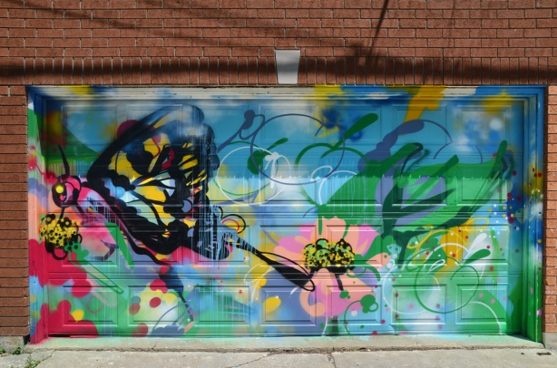 butterfly mural by Pascal Paquette