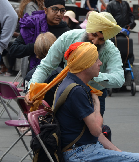 At Turbanup event at Yonge Dundas Square,