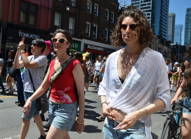 women in dyke march