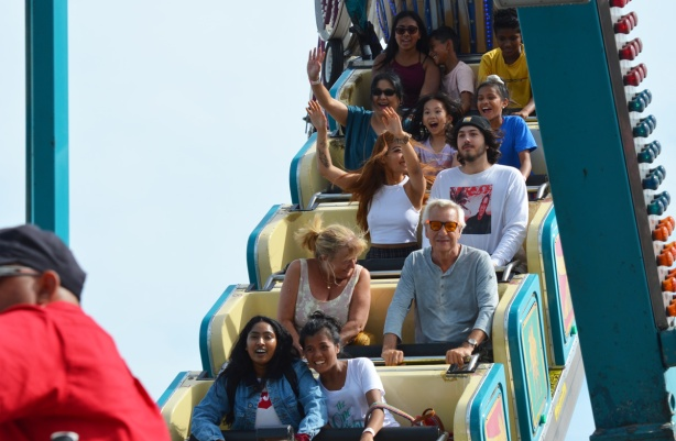 people on ride at CNE