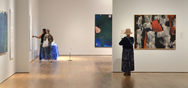 women looking at paintings at the Art Gallery of Ontario