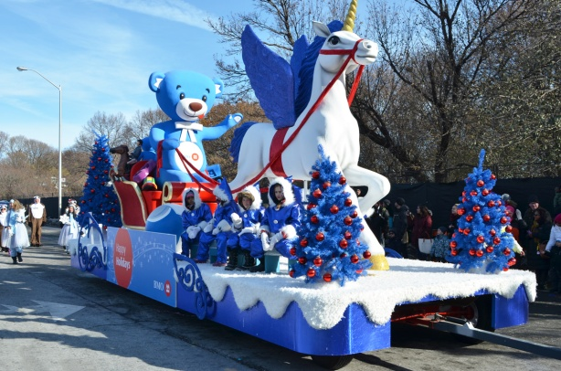 Santa Claus Parade, people on a float