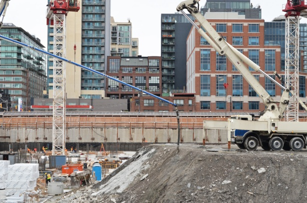 construction site at Sherbourne and Front