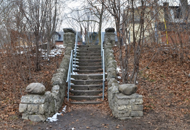 old stone stairs in Ramsden Park