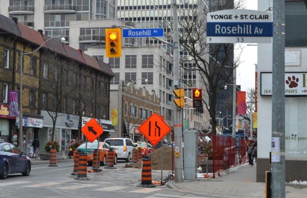 construction on Yonge street