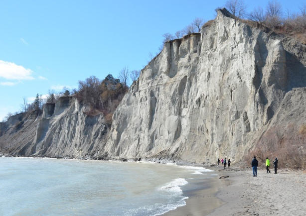 Scarborough bluffs, cliff by Lake Ontario