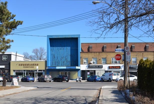 stores on Donlands Ave as well as a studio with a large blue store front