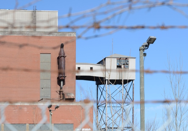 part of Hearn generating plant, upper level with watch tower
