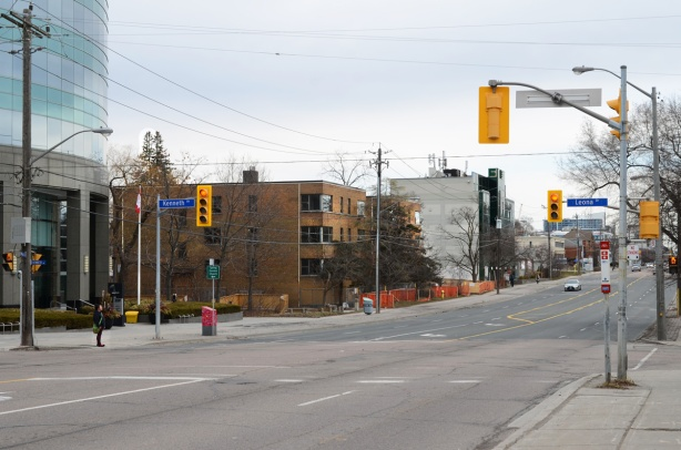 Sheppard Ave East looking east from Kenneth & Leona streets