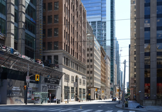Bay street, looking south from Queen