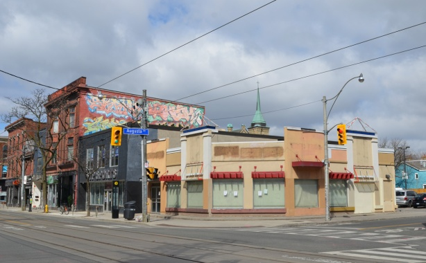 empty KFC Kentucky Fried Chicken restaurant on Queen Street west