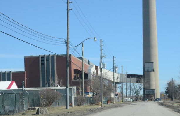 hearn generating station from the west side