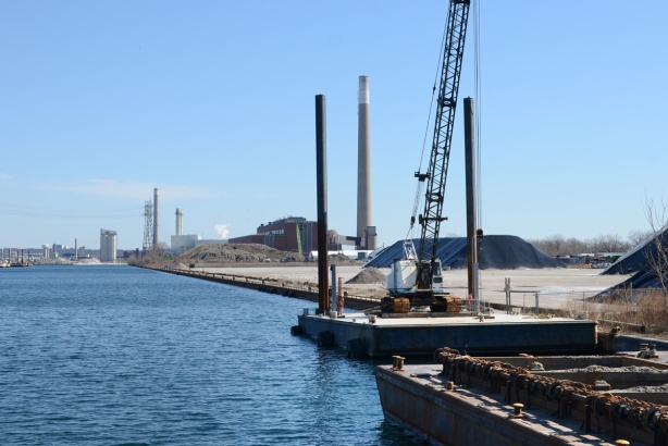 shipping channel, port lands