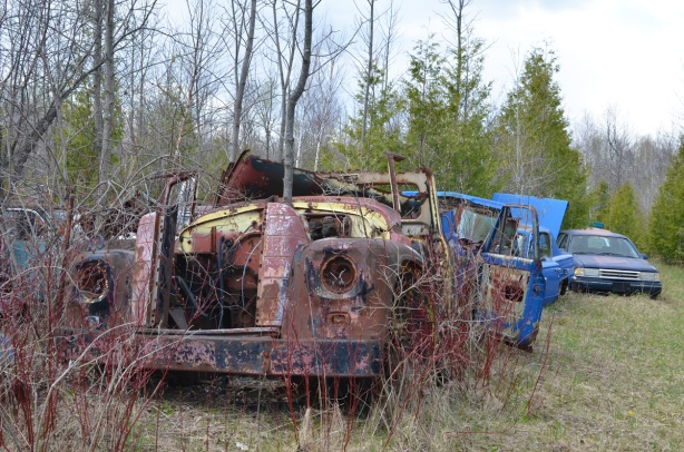 junked, old cars, McLeans Auto Wreckers,