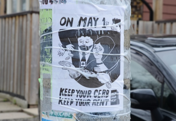 poster for on May first keep your CEBA and keep your rent