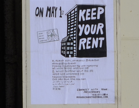 keep your rent poster, in five different languages, for Little India