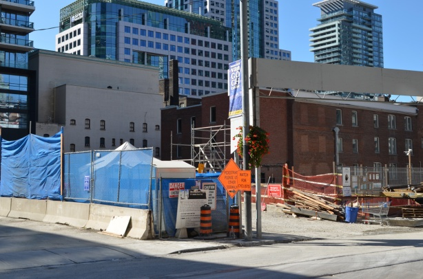 construction site in downtown Toronto