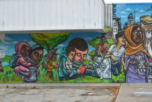 group of people, elicser mural