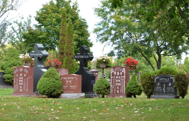 monuments, tombstones at Pinehills cemetery