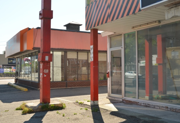 empty storefront on the Danforth
