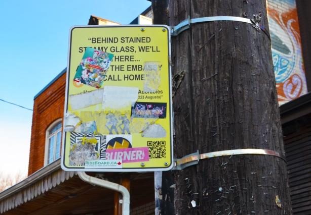 street sign street art