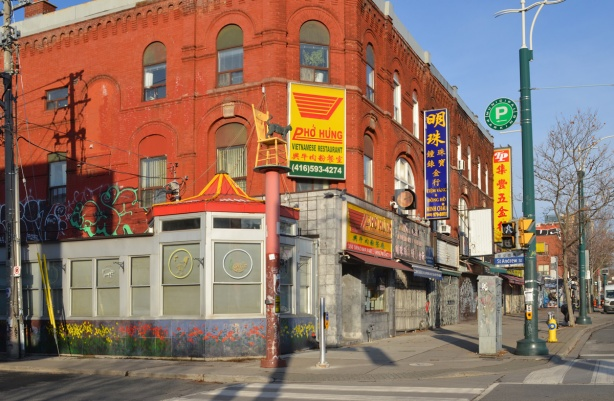 vietnamese restaurant on the corner of Spadina and Nassau,