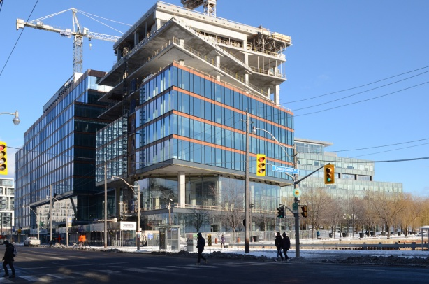 new building being built at Lower Jarvis and Queens Quay, beside Sugar Beach