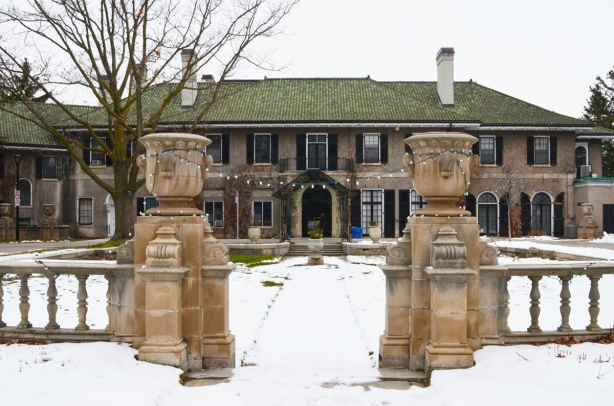Glendon Hall, in winter, the old house on campus of Glendon College built in the 1920s