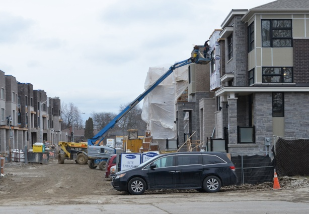 new townhouses being built in Don Mills