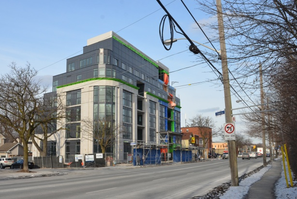 six or 7 storey new condo development in birch cliff