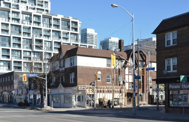 at the corner of YOnge and Manor Road, looking north east