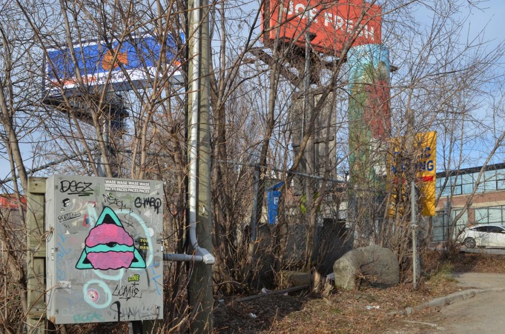 billboards and graffiti