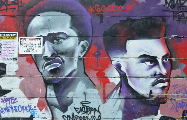 mural of two black men