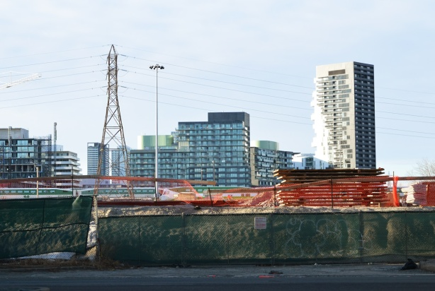 Canary district development from the Lakeshore, looking north,