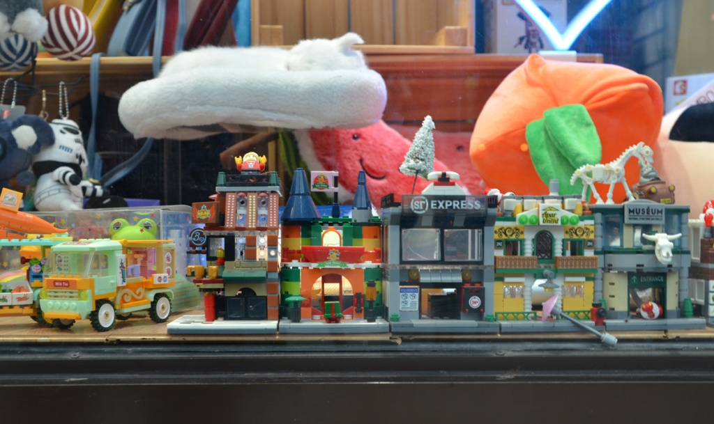 looking in the window of a toy store