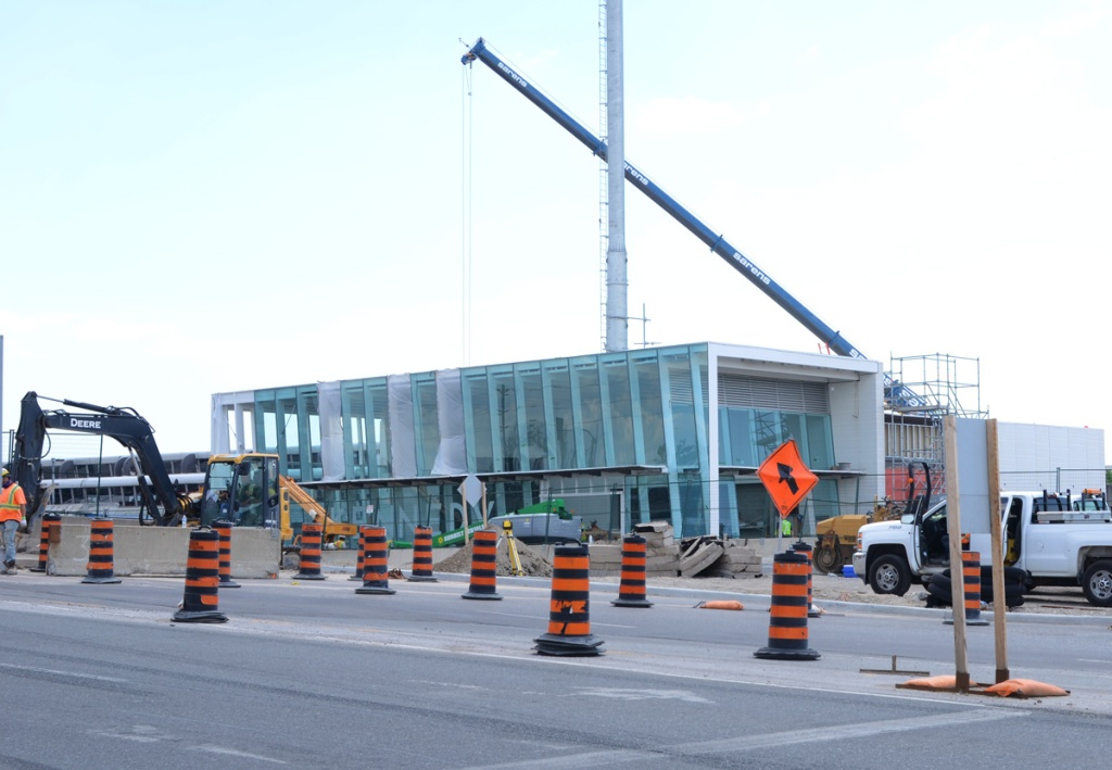 the new Kennedy LRT station under construction