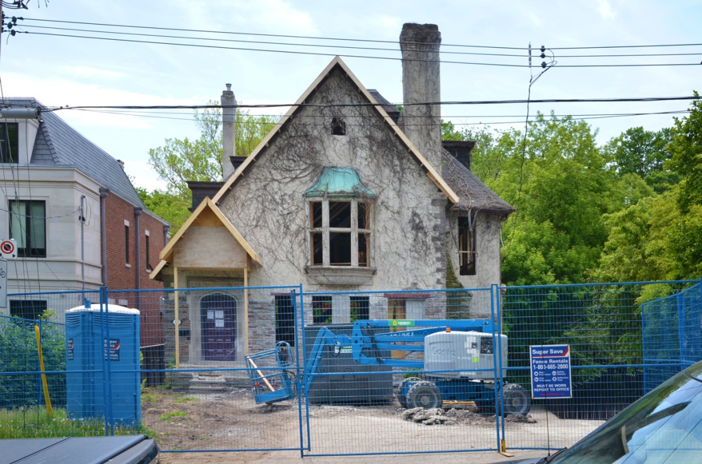 an older house with the insides gutted as part of a renovation