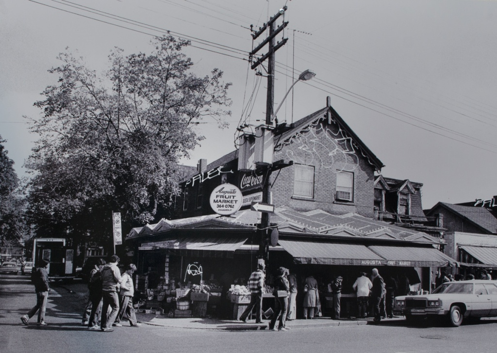 black and white photo from 1961 of Augusta Fruit market